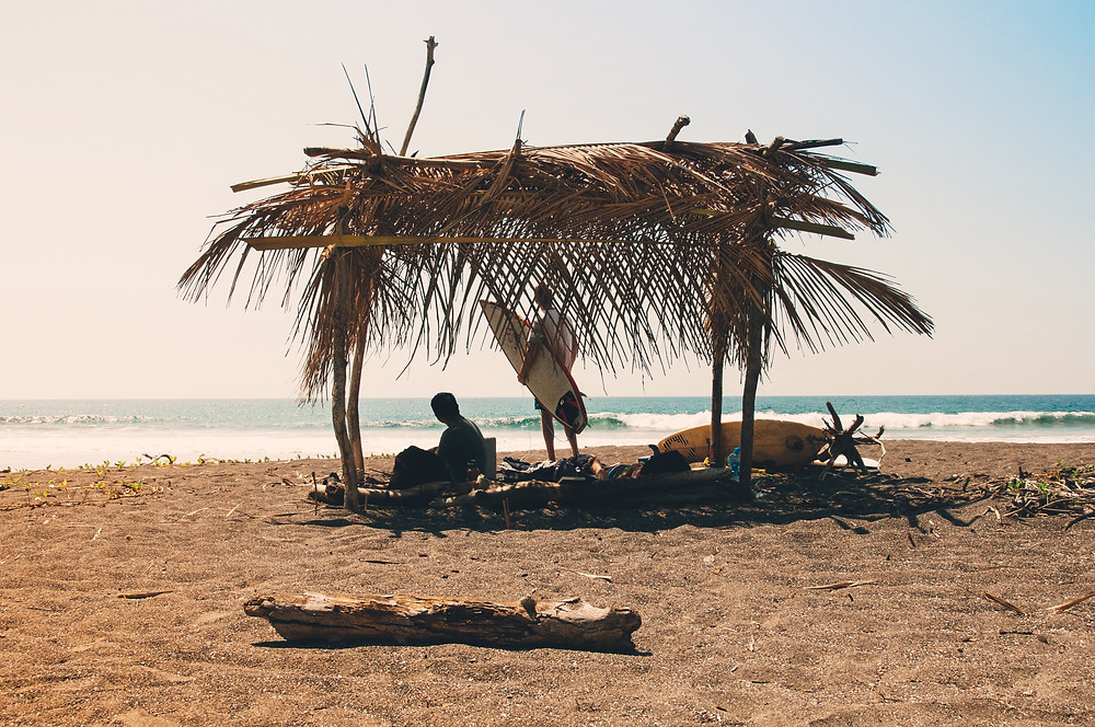 Surfers in the Nicoya Peninsula