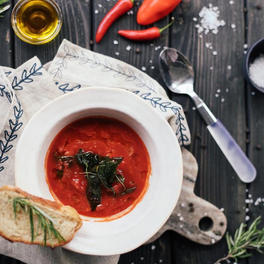 Virtual Summer Supper: Gazpacho & Ceviche