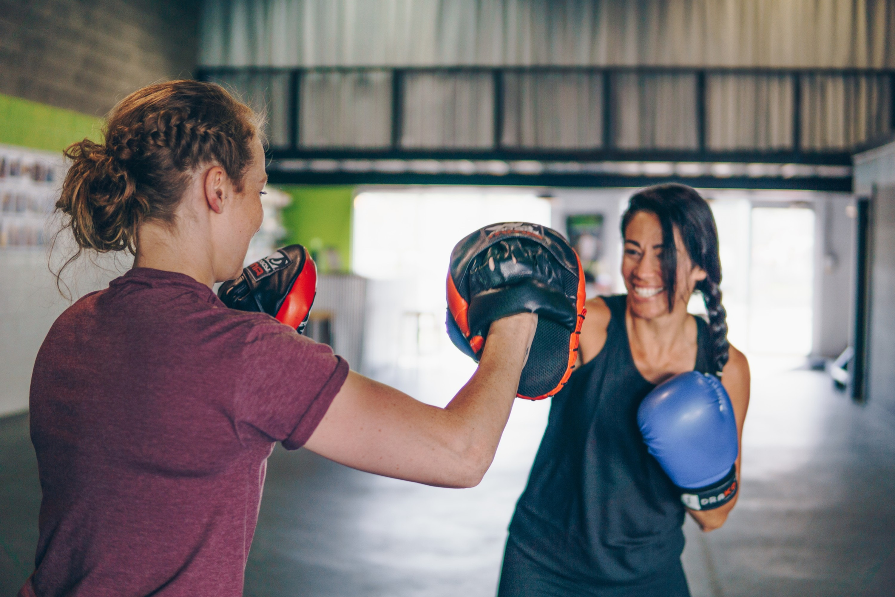 2-on-1 Boxing lesson ad workout