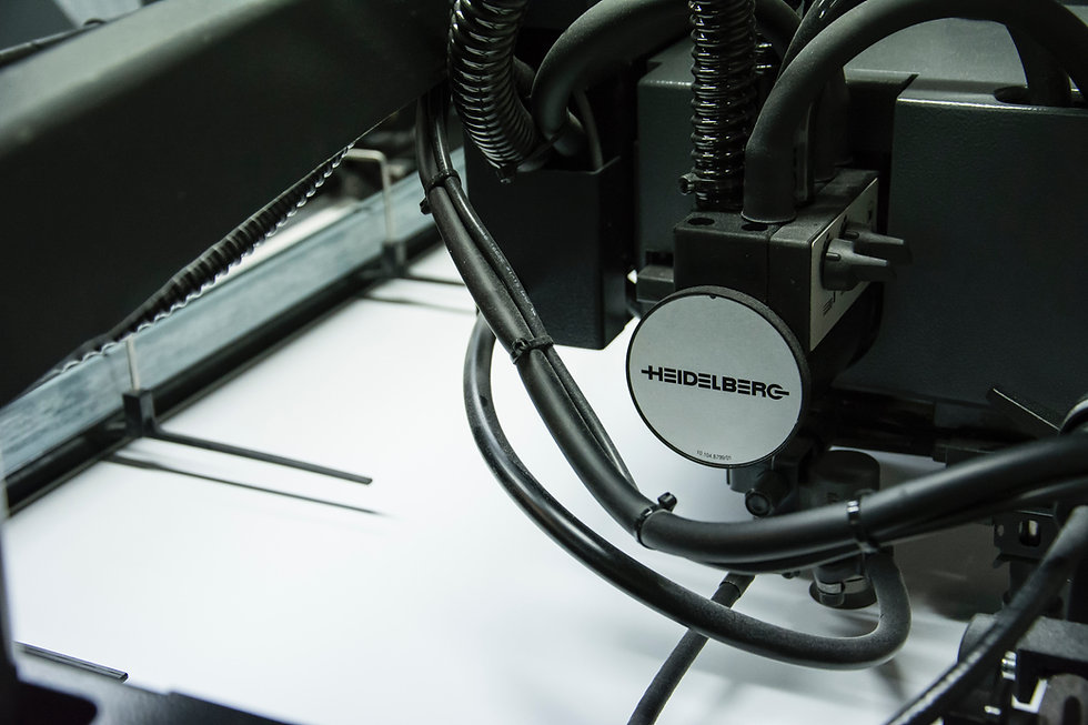 heidelberg printer close up