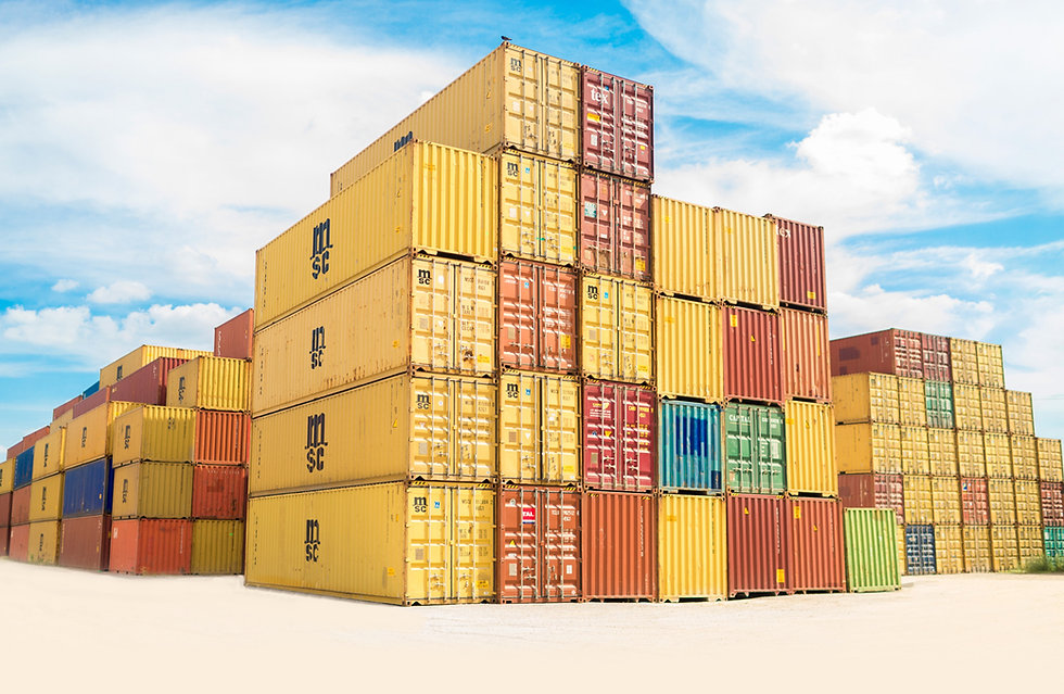 Container vans for chemical importation and distribution