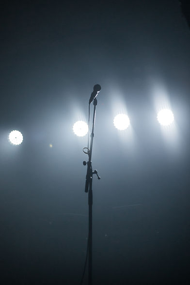Image of an empty stage and microphone
