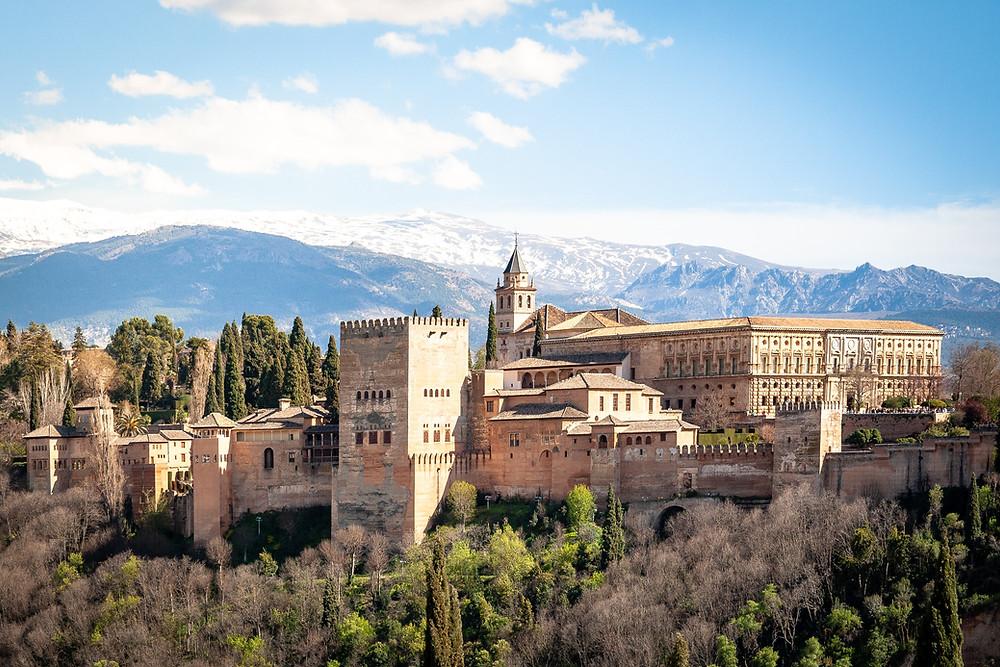 the mighty Alhambra, a UNESCO site in Granada