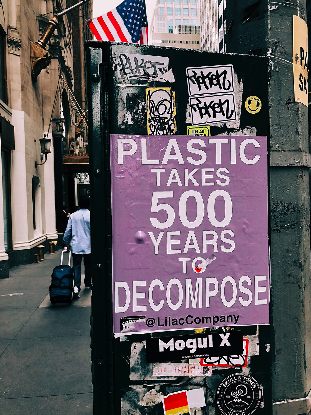plastic takes years to decompose
