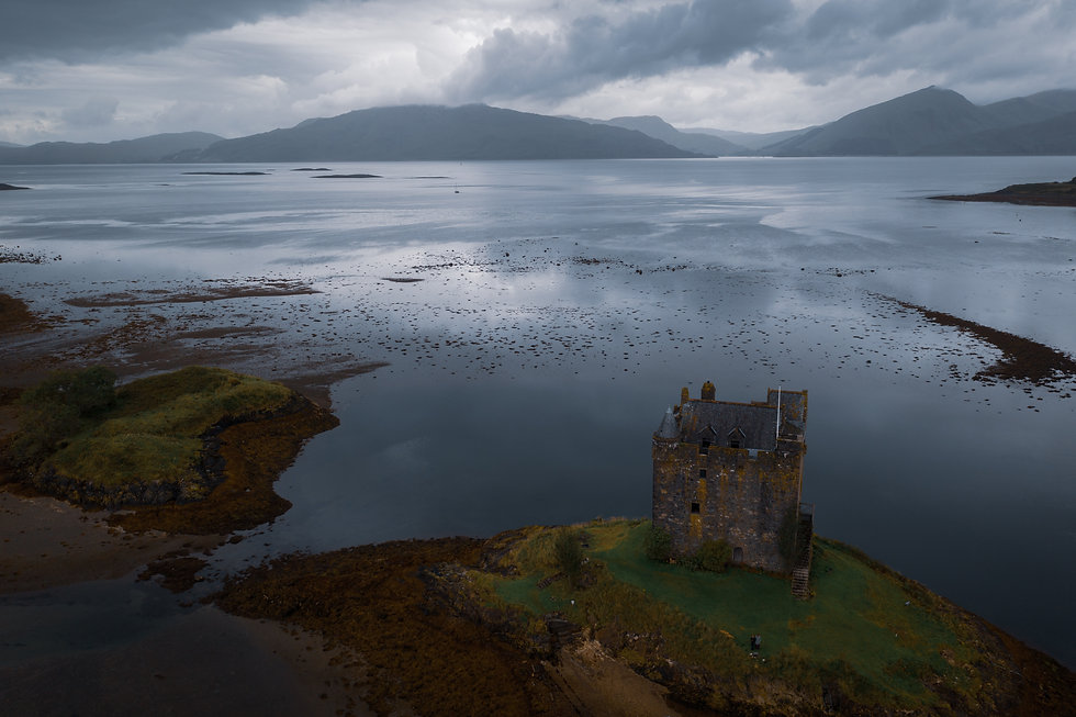 open water and castle in Oban