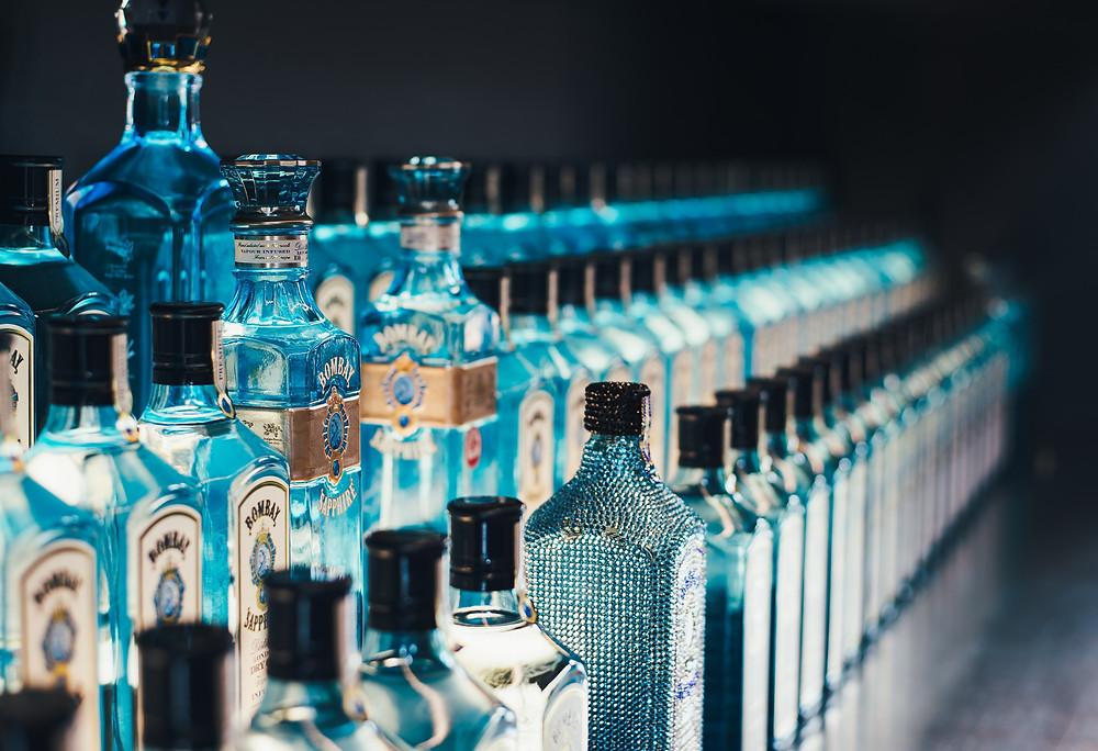 Bombay Gin Bottles