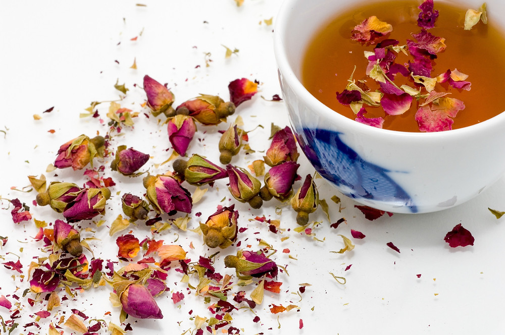 Rose Bud Tea, chines herbal medicine for depression