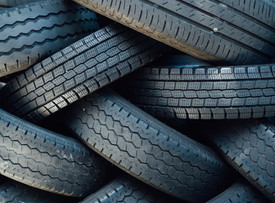 Old tires can be mixed with rubble to make new roads