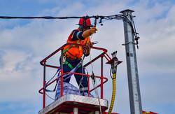 Pole connection