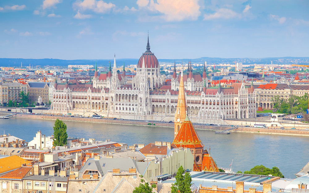 River cruise agent shows Danube river cruise