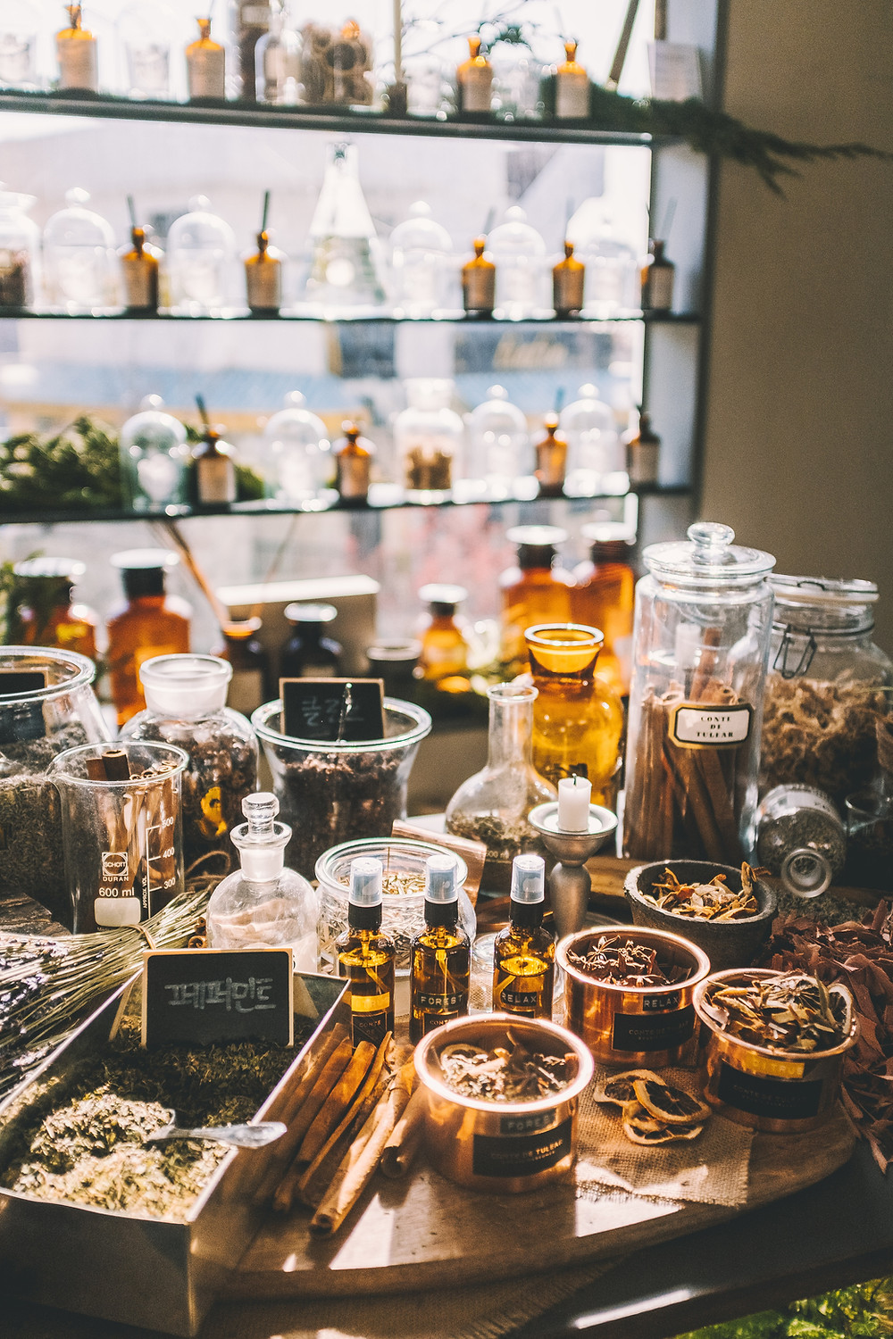 apothecary, herbalist's shop