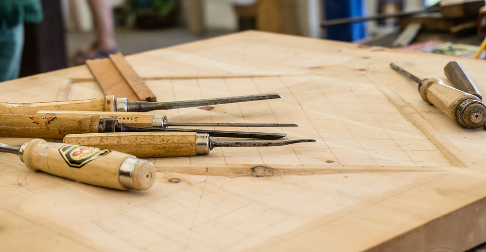 Wood carving tools.