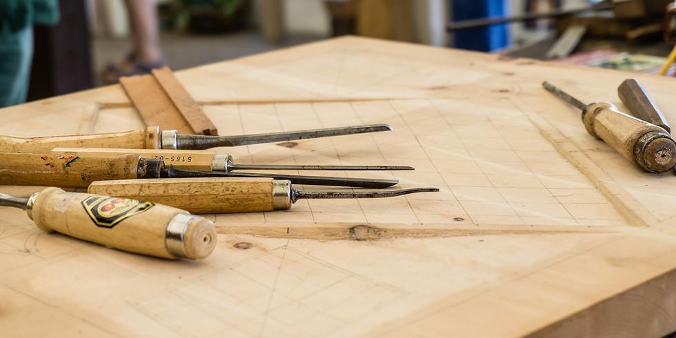 Woodblock carving and printing - school holidays