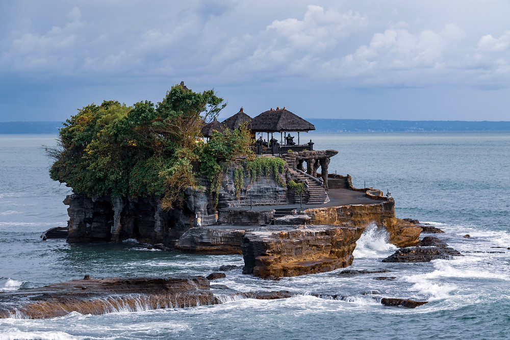 Tanah Lot Temple in the sea