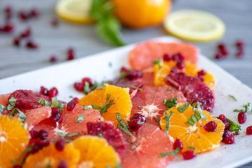 Citrus fruit salad orange and grapefrui