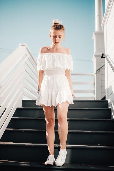 Girl On Stairways