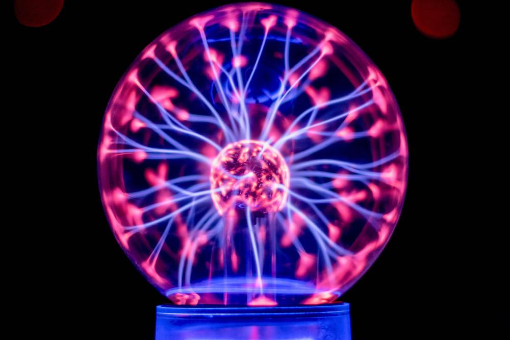 A plasma ball