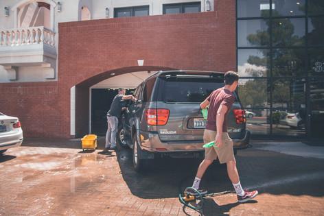 Wash your parents' car