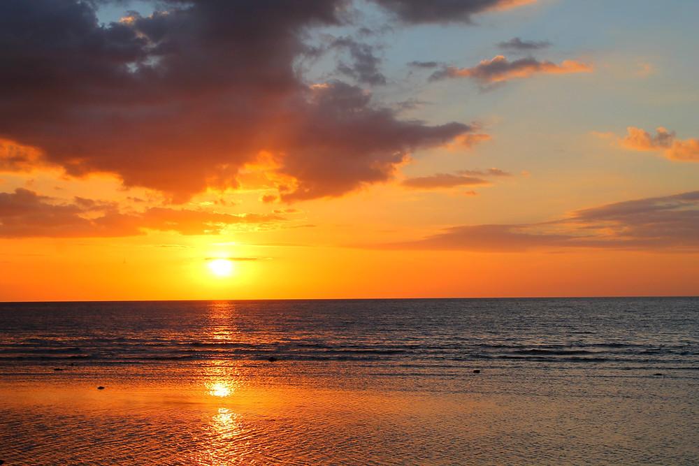 A beautiful Sunset in Lovina beach, Bali