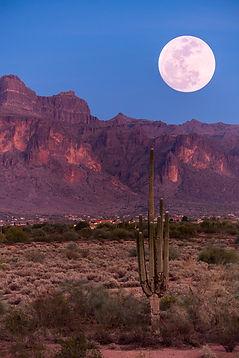 Full Moon over the desert.