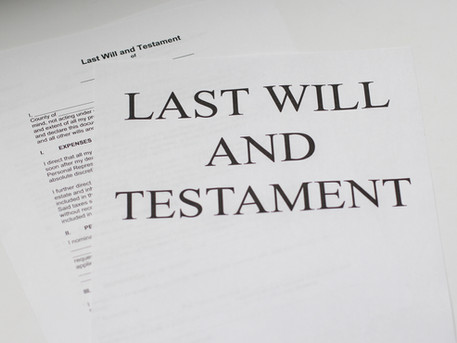 What happens to an unsigned will when the will-maker dies?
