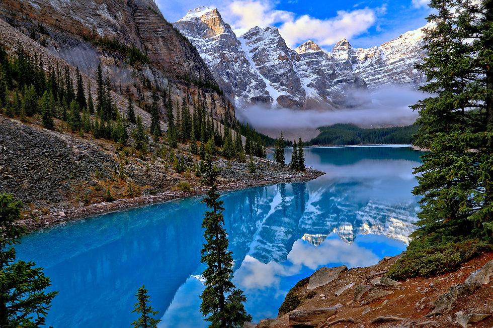 Moraine Lake Banff, Blue lake canada, canada tour