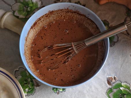Dark Chocolate Pots de Creme with Peanut Butter