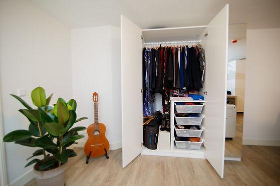 custom closet with custom wardrobe