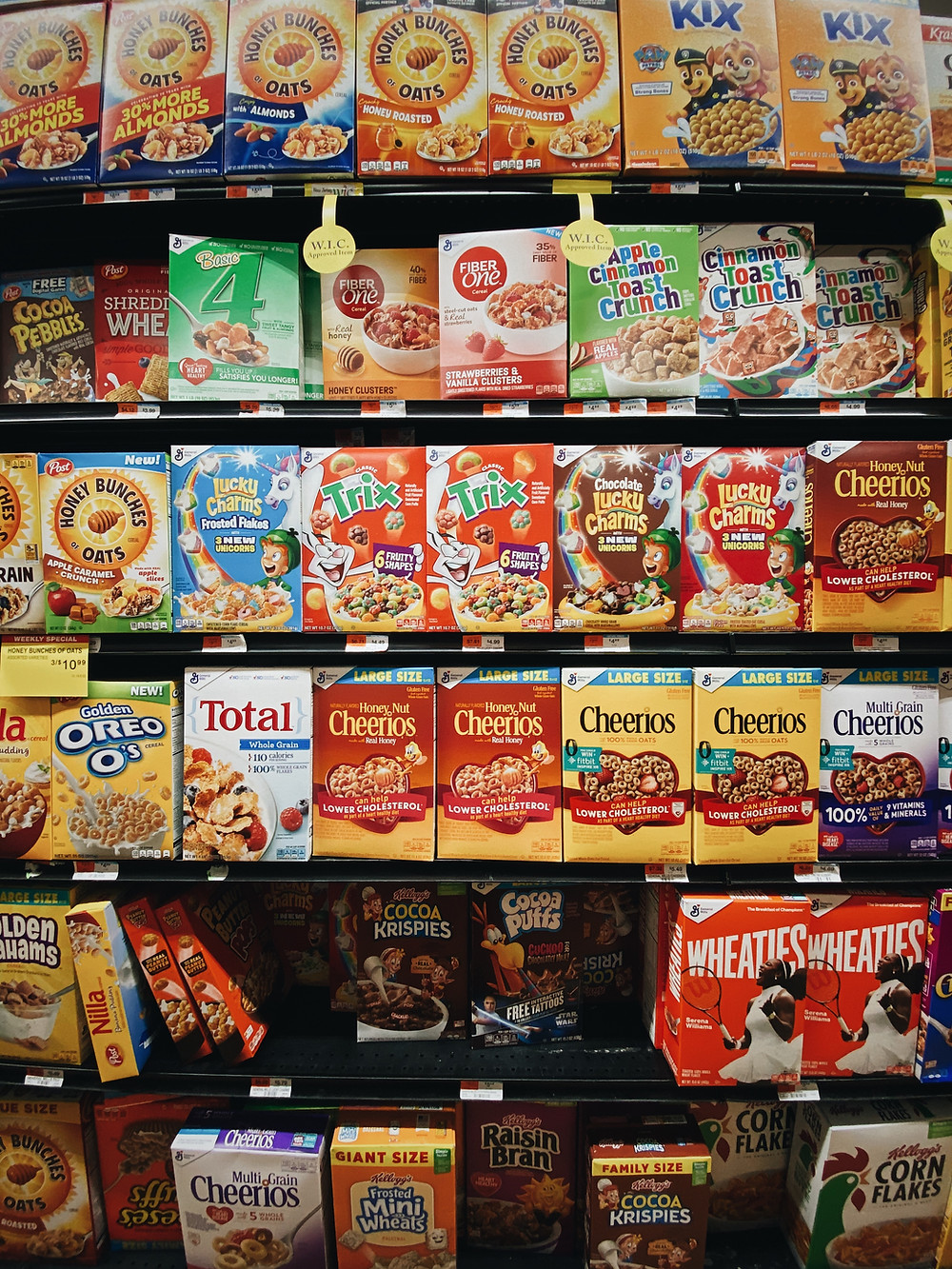 image courtesy of unsplash.com, cereal, cheerios, honey bunches of oats, cinnamon toast crunch