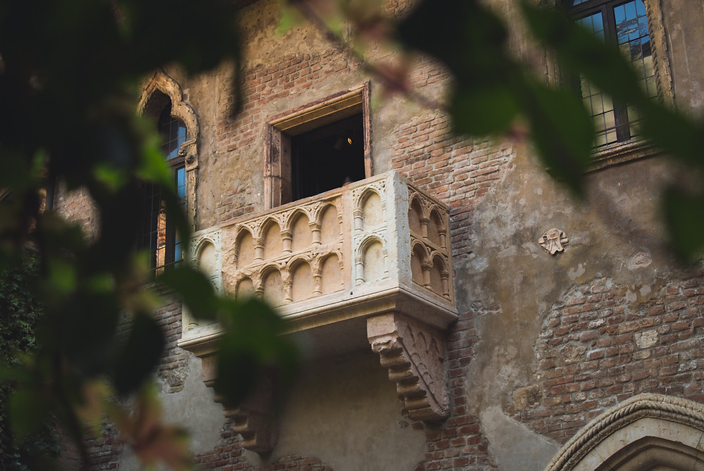 The Famous Juliet Balcony in Verona