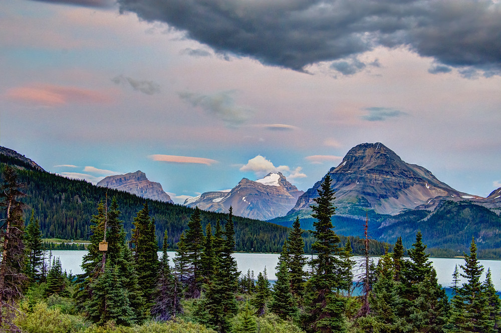 Bow Lake is one of the 5 most beautiful lakes in Banff National Park