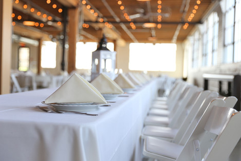 white table cloth hire