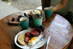 Table of breakfast food Image by Gabrielle Cepella
