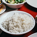 STEAMED WHITE RICE OR BULGUR