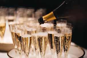 Events - champagne poured