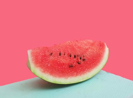 Wassermelone mit Minze und Feta