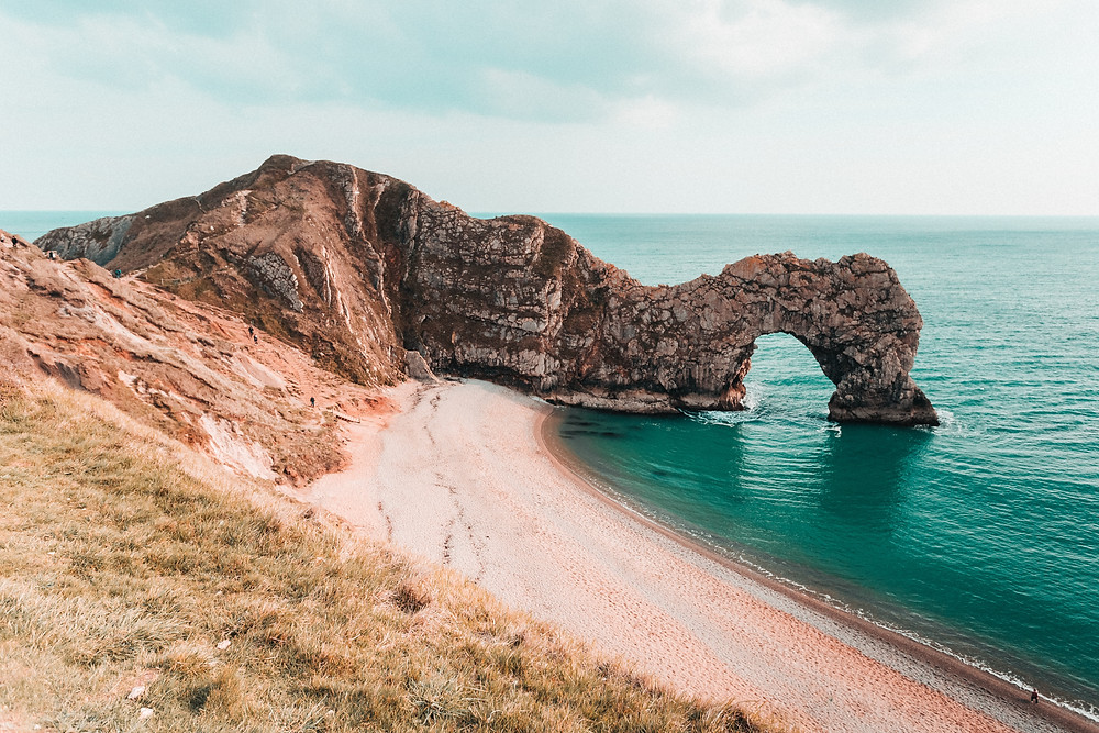 Durdle Door in Dorset part of the Jurassic coast in England