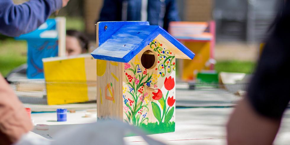 Immer samstags bei der SPD: Bienenhotel & Vogelhäuschen bauen