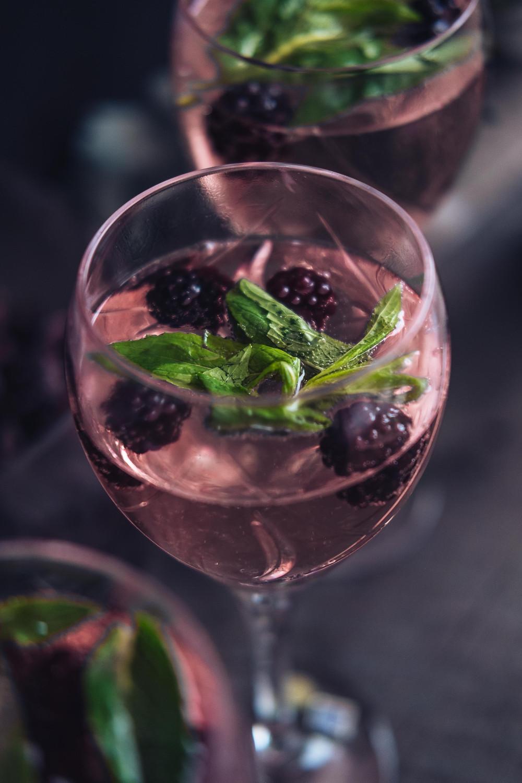 blackberry cocktail mint basil