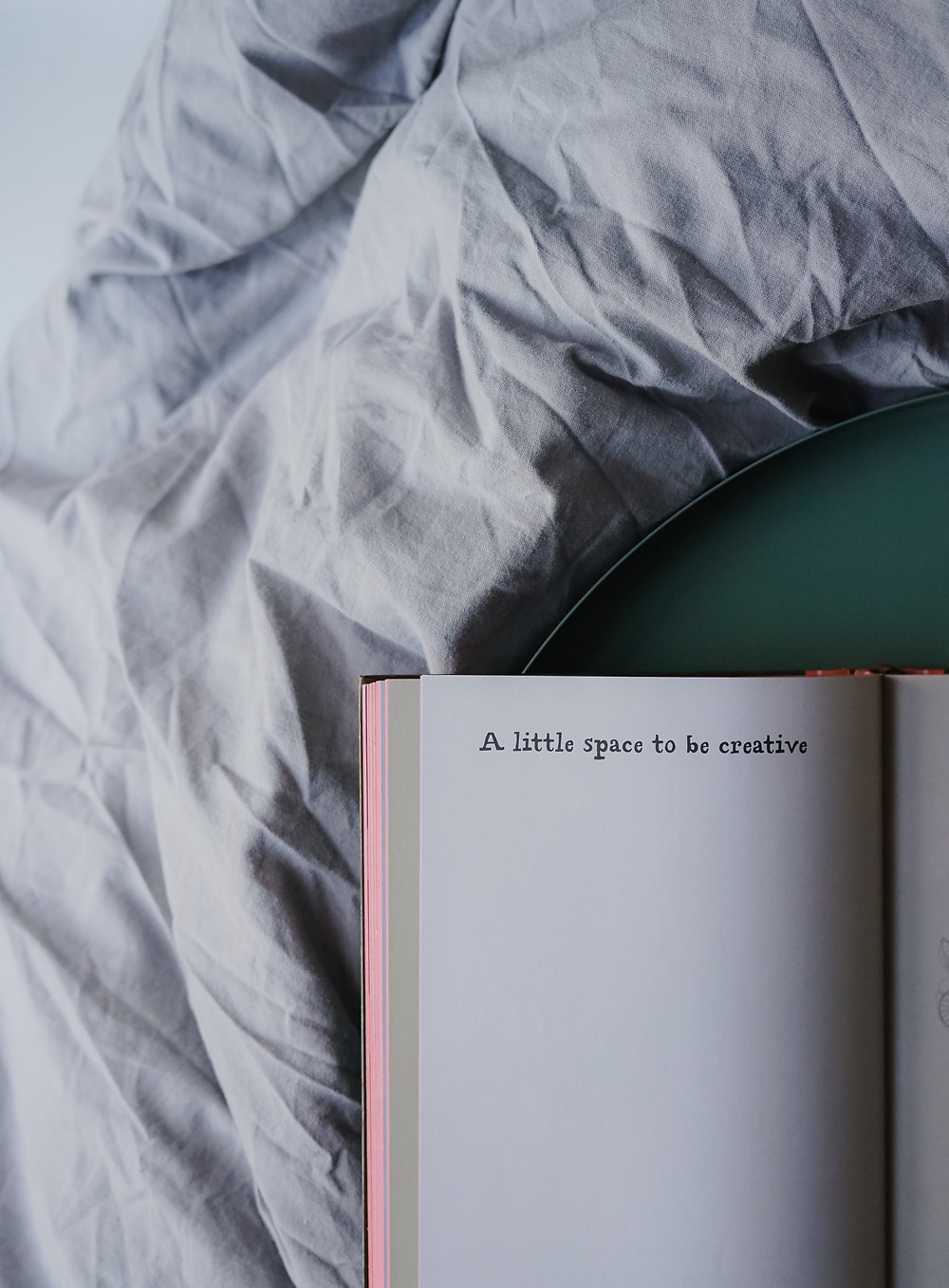 Graphic- open journal laying on a bed