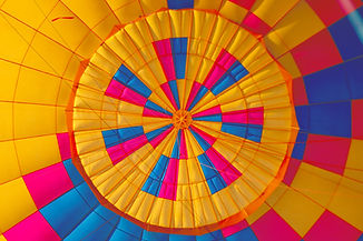 Colorfull baloon elevating to the hights