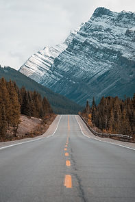 Highway and mountain image