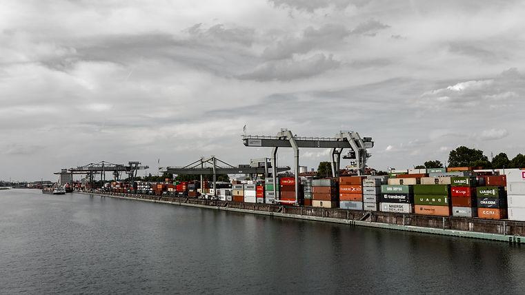 Blick auf den Mannheimer Handelshafen.