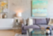Luxury living room in West Kelowna cleaned by a professional eco-friendly house cleaning service.