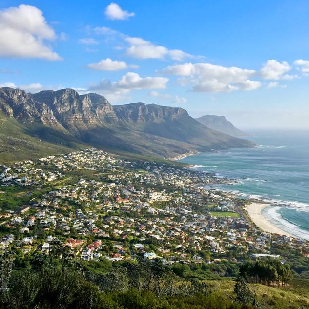 Ausblick vom Lionshead in Kapstadt