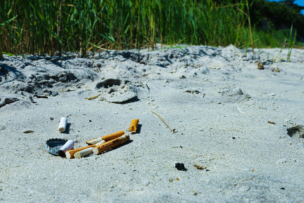 cigarettes littering the ground