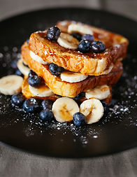 health French toast with blueberries
