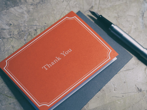 Thank-You Notes in Three Easy Steps