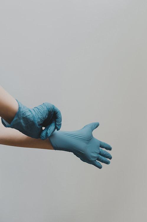 Nitrile wegwerphandschoenen poedervrij 100st. blauw