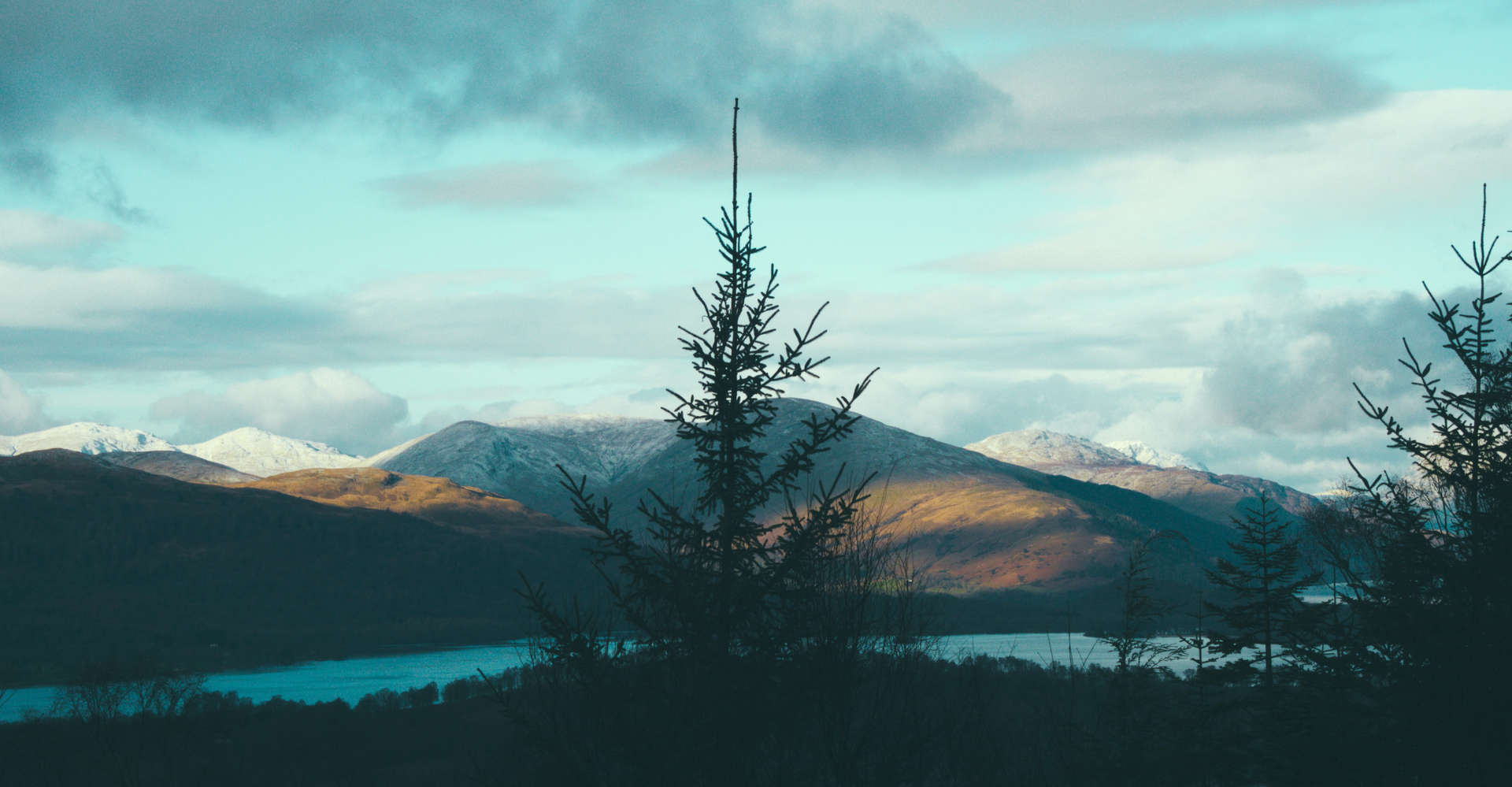 mountains and sky in scotland